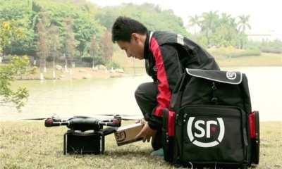 SF Express testing delivery drones | People's Daily