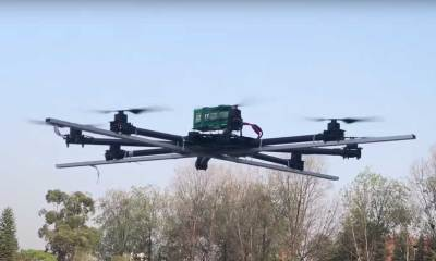 A medical delivery drone developed by Pun's team | Nepali Times/Youtube