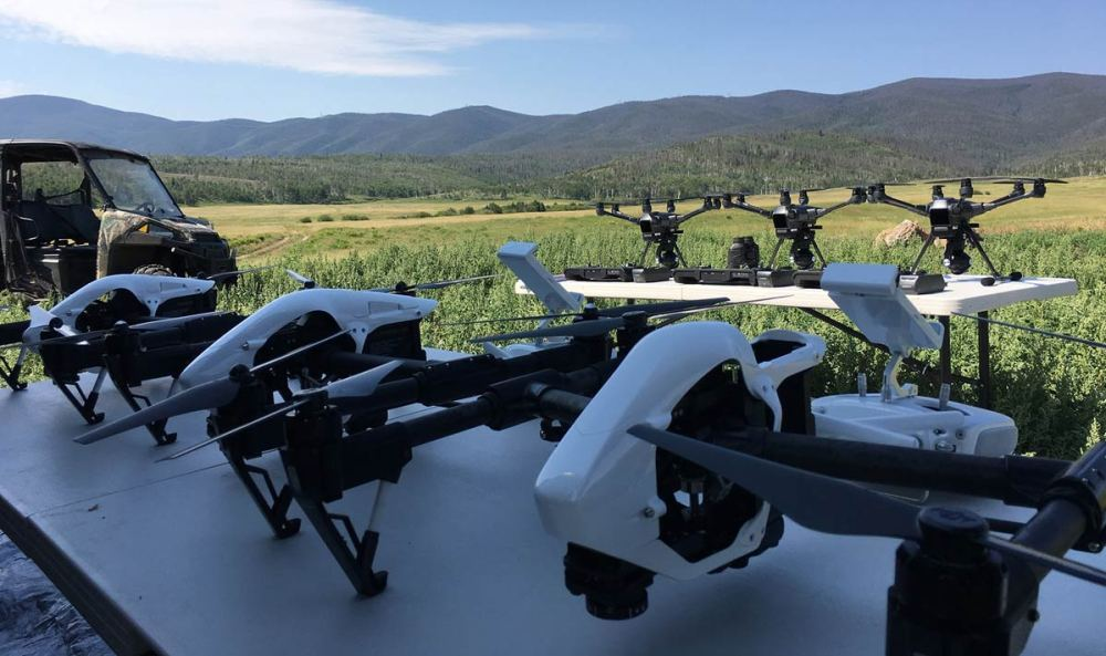 Aerial drones at the field research station in Colorado | VTO Labs