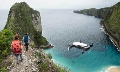DJI drone hiking