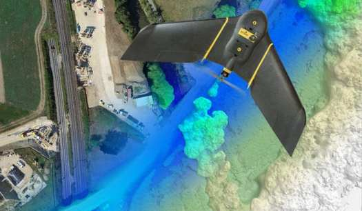 Sensefly's Ebee can be used to gather geospatial information