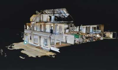 A building 3D mapped with drones