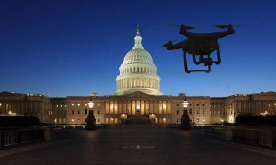 A drone over the White House