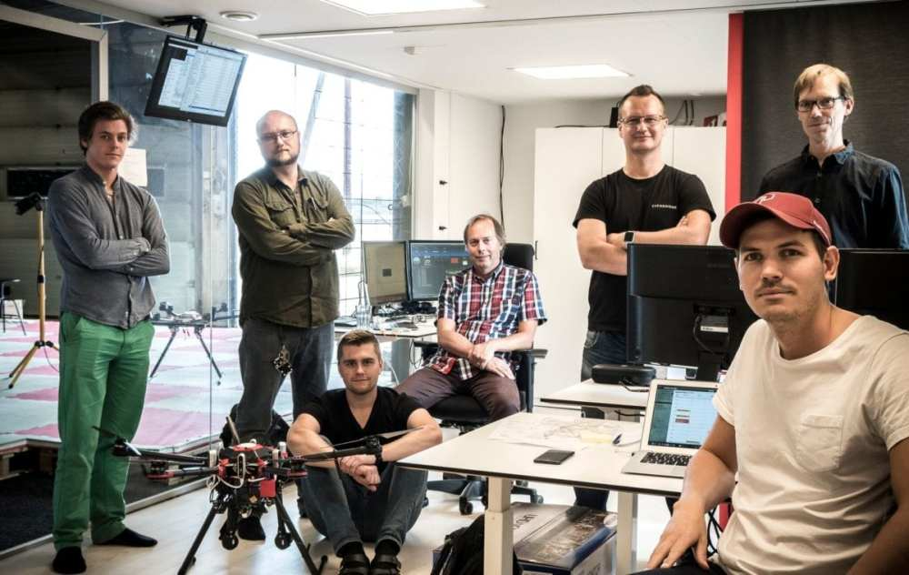 Everdrone team - From left to right: Victor Nilsson, Machine Learning Engineer; Maxim Chukharkin, Machine Learning Engineer; Emil Granberg, Technical Developer; Mats Berggrund, Senior Software Developer; Maciek Drejak, CTO; Mats Sällström, CEO; Joakim Wigström, Senior Software Developer