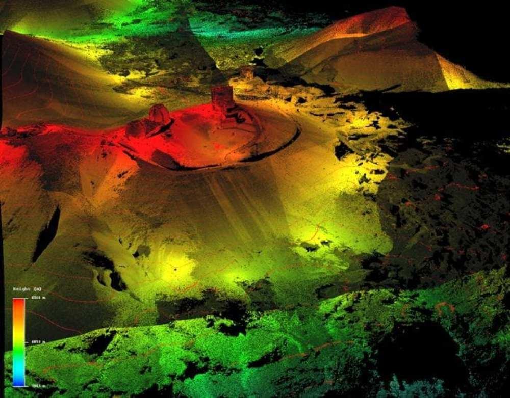 LiDAR imagery of Maunakea