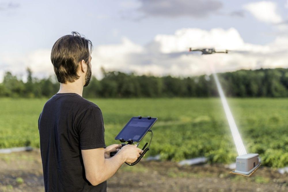 Future of Drones: in-Flight Charging via Lab-Grown Diamonds