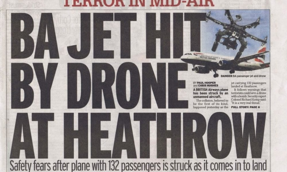 Front page of the Daily Mirror newspaper (London) on 18 April 2016.