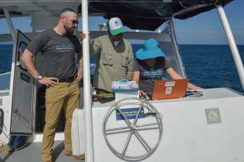 Island-Conservation-Galapagos-National-Park-seymour-norte-drone-from-boat-staff-invasive-species