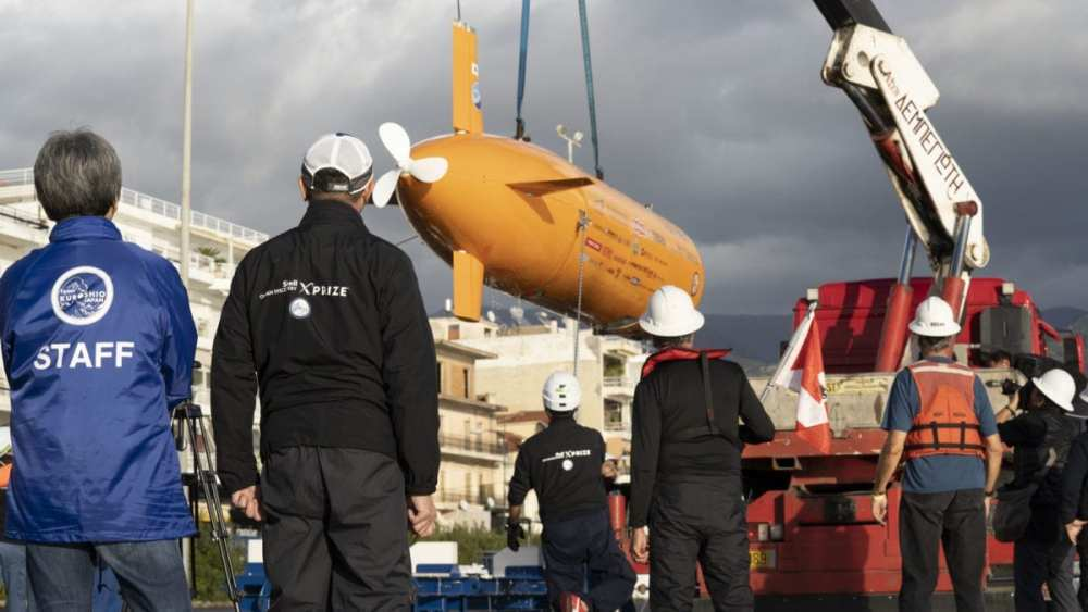 Team Kuroshio from Japan competes in Kalamata Greece as part of $7 million Shell Ocean Discovery XPRIZE. Source: XPRIZE.