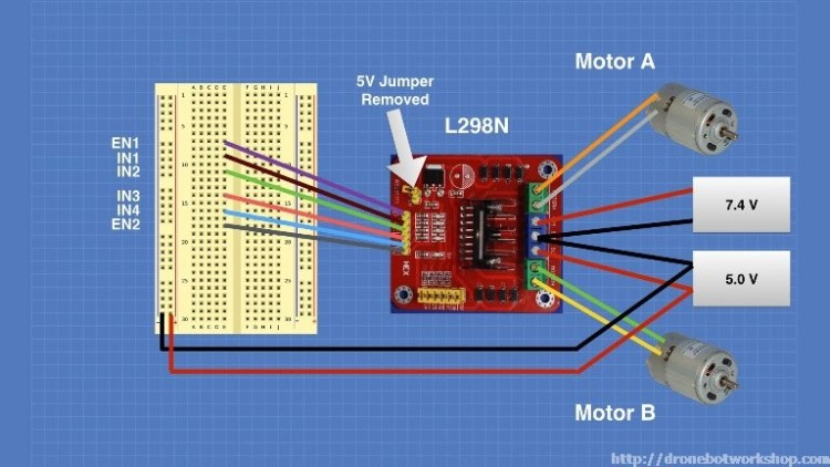 L298 Motor Control Module Experiment 1