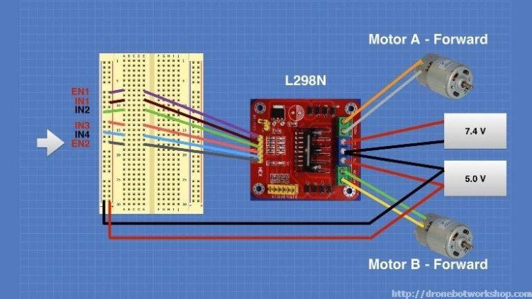 L298 Motor Control Module Experiment 3