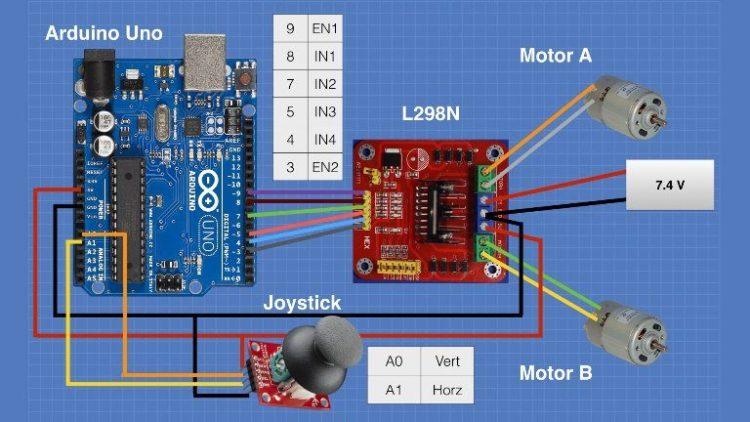 L298 Motor Control Module Arduino Joystick