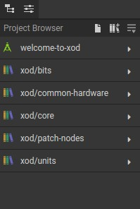 XOD Project Browser