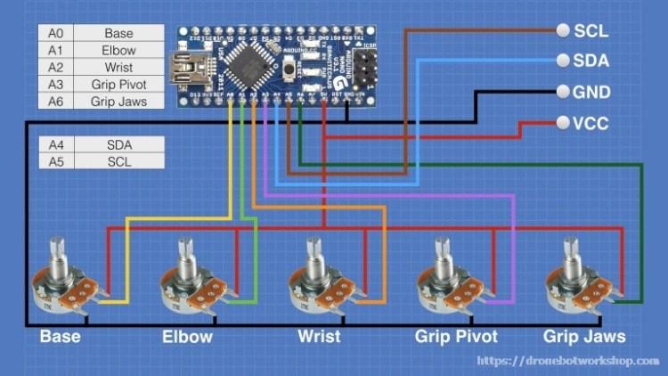Controller Hookup - Arduino Nano