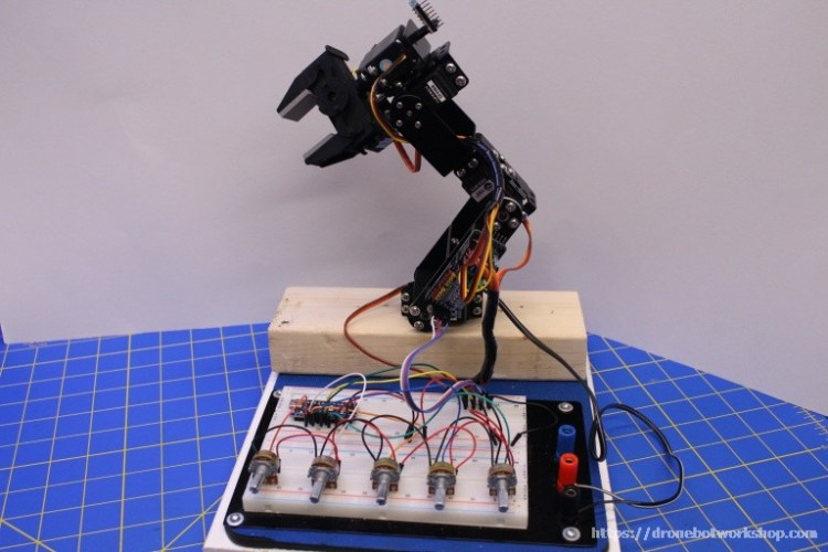 build a robot arm and controller  dronebot workshop