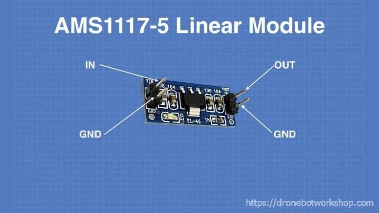 AMS1117-5 Voltage Regulator Module