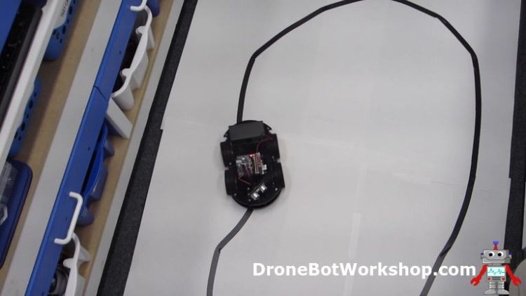 Line Tracking Robot Car in action