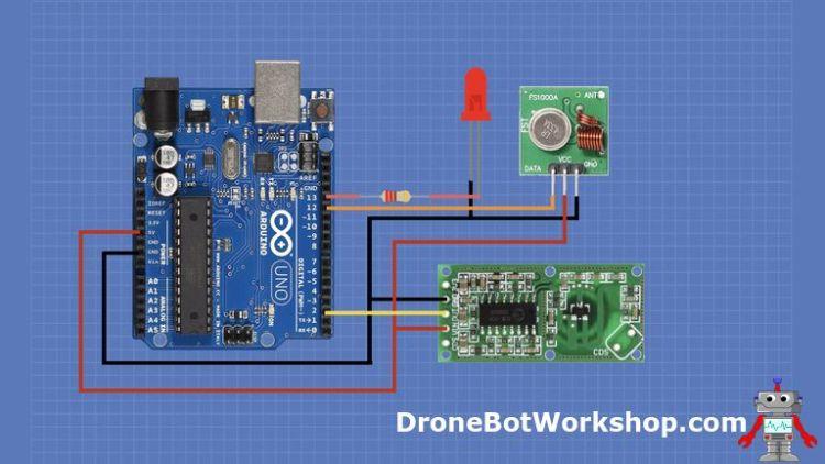 RCLW-0516 Arduino Transmitter Hookup