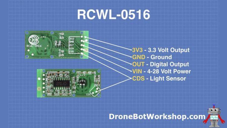 RCWL-0516 Pinout
