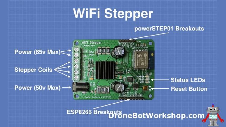 WiFi Stepper Connections