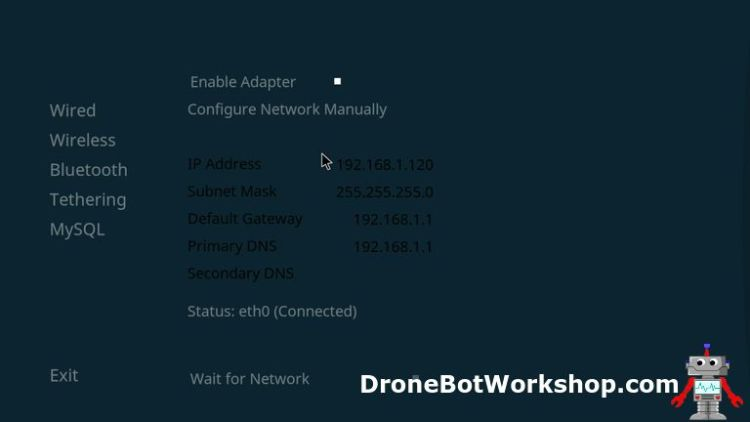 Kodi Network IP Address Settings