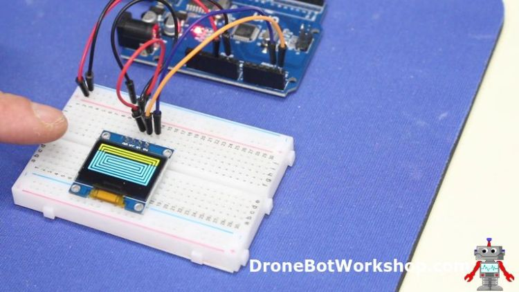 Using OLED Displays with Arduino | DroneBot Workshop