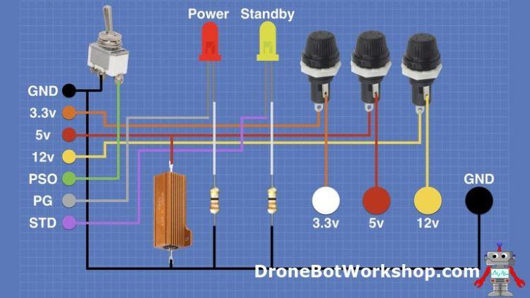 Convert ATX Power Supply to Bench SupplyDroneBot Workshop