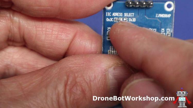 Set I2C Address on OLED Display with Resistor Jumper