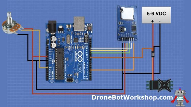 Arduino Servo and SD Card Hookup