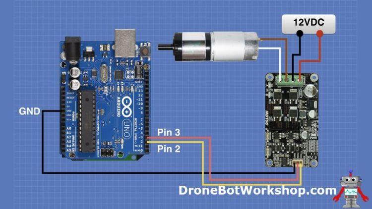 Cytron MDC10C Arduino Hookup (no keypad)