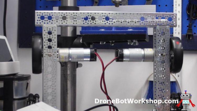 DC gearmotors on frame