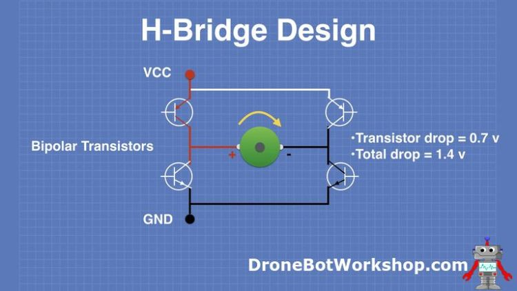 H-Bridge Design with Bipolar Transistors