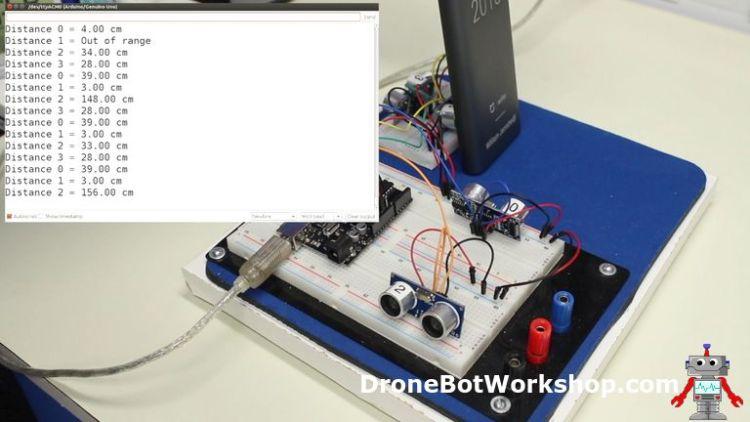 Ultrasonic 4-Sensor Demo