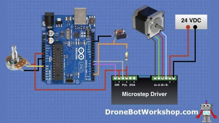 Using BIG Stepper Motors with Arduino | DroneBot Workshop
