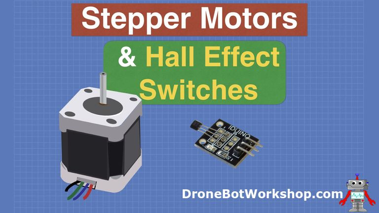 Stepper Motor with Hall Effect Limit & Homing Switches