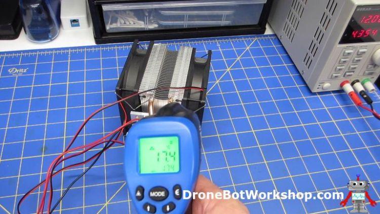 Peltier Cooler Assembly Temperature