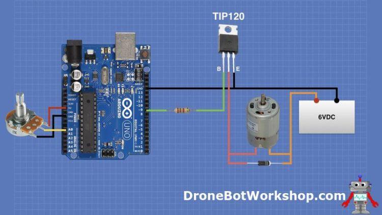 Arduino Transistor Motor Control Hookup