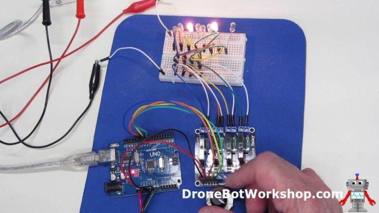 Arduino SSR Light Chaser