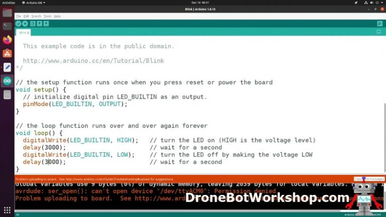 Arduino IDE permissions error
