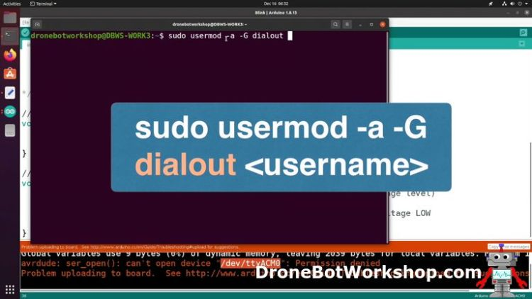 Arduino IDE set USB Permissions