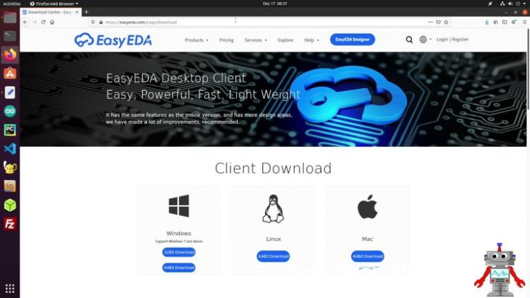 EasyEDA Download Page