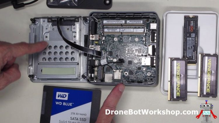 Intel NUC Workstation before assembly