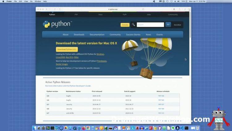 Python Website Mac OS X