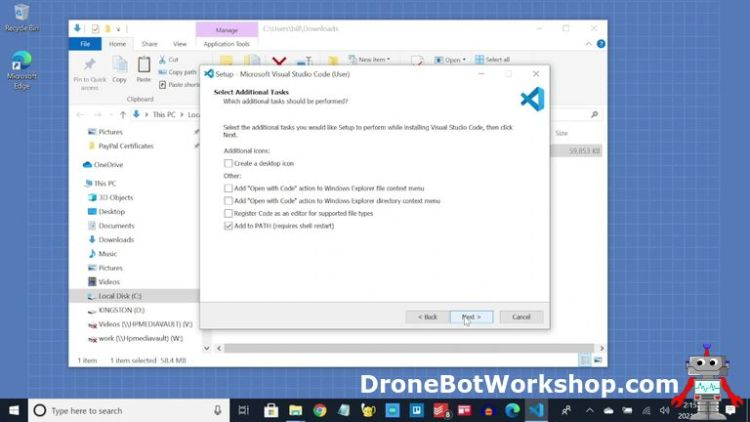 Visual Studio Code Windows Add to Path