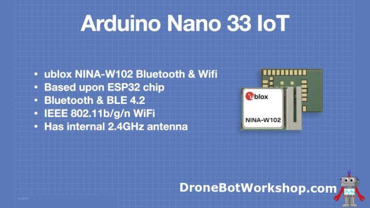 Arduino Nano 33 IoT NINA-W102