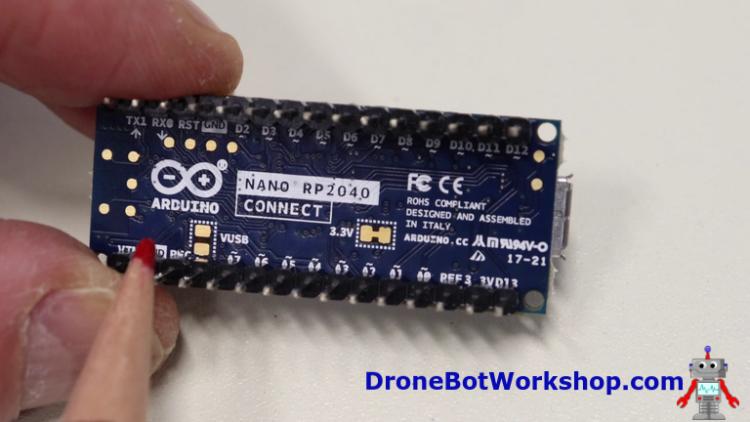 Arduino Nano RP2040 Connect - Underside