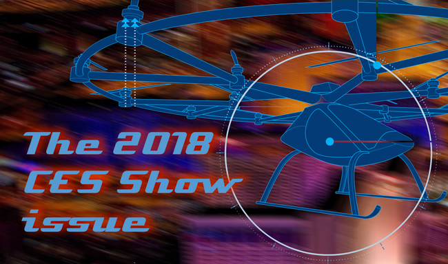 The 2018 CES Show issue of Dronin' On 01.13.18