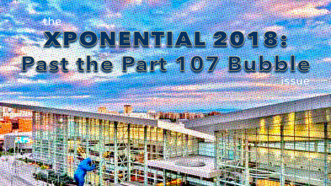 XPONENTIAL 2018: Past the Part 107 Bubble issue of Dronin' On 05.05.18