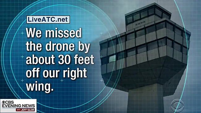 news report of drones near Newark