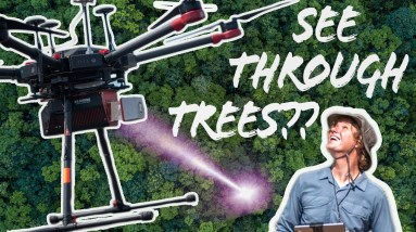 How a LiDAR Drone Maps the Bare Earth through trees!